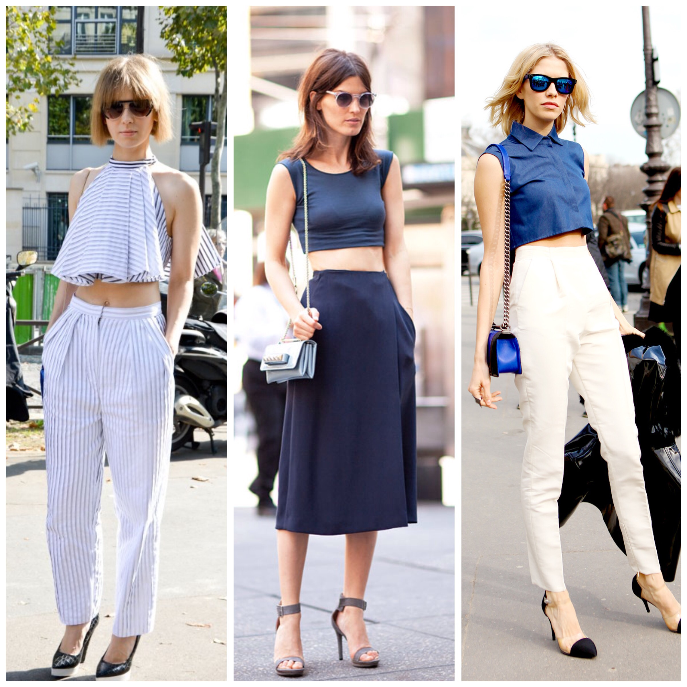 857aa6cf8f The crop top is a trend that is going to continue. Good if matched with  high rise trousers or skirts, but your belly needs to be really flat…if  not, ...